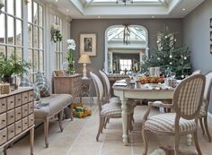 classic dining conservatory from vale garden houses grey beige white dining room with check classic dining room design ideas