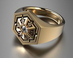 Star wars gold ring jewelry for her and him star wars engagement and wedding rose gold ring unique engagement gold ring for her - Star Wars Jewelry - Fashionable Star Wars Jewelry - Mens Gold Rings, Gold Rings Jewelry, Jewelry For Her, Rings For Her, Men Rings, Gold Bracelets, Diy Jewelry, Gold Earrings, Jewellery