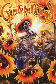 This sweet Grateful Dead poster will brighten up your walls with Sunflowers! That farmer should eat a few more brownies... Fully licnesed. Ships fast. 24x36 inches. Have a grateful time and check out