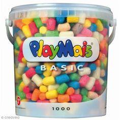 Cubo PlayMais de 10 l - Colores surtidos - Fotografía n°1