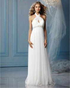 sexy goddess wedding gown