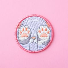 pastel kitten paws patch - lavender - ban.do
