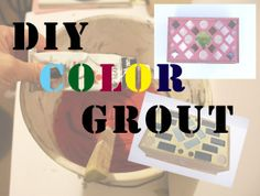 Part art, part science…experimenting with color grout!