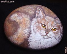 painted rocks: cats