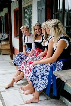 Many fine stores to sample German Women, German Girls, Dirndl Dress, Dress Up, Beer Girl, Barefoot Girls, Female Feet, Mode Inspiration, Traditional Dresses