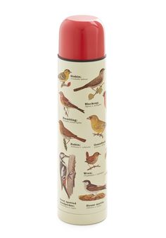 Bird Swatching Travel Bottle. Zoom in for a closer look at this delightful vacuum flask. #multi #modcloth