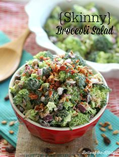 Skinny Broccoli Salad #healthyeating #meals #recipes
