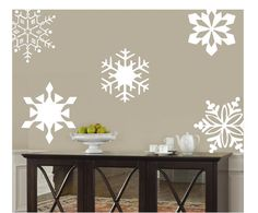 Snowflakes  10 10 inchholiday Vinyl Lettering by itswritteninvinyl, $22.00