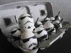 Make some of these easy & fun storm trooper eggs to play egg & spoon races.