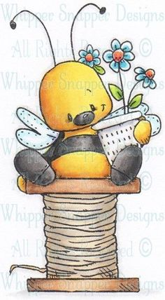 Drawing Sewing Bug Transplanting Tips Article Body: Early spring is a great time for transplanting t Cartoon Drawings, Cartoon Art, Cute Drawings, Art Articles, Bee Art, Sewing Art, Tole Painting, Rock Art, Doodle Art