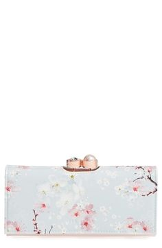 Main Image - Ted Baker London Blossom Print Leather Matinée Wallet