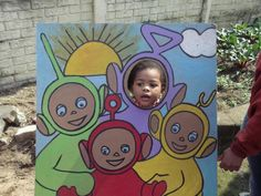 Teletubbies come out to play.