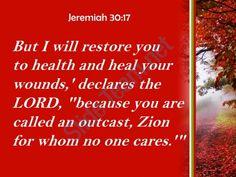 jeremiah 30 17 i will restore you to health powerpoint church sermon Slide03http://www.slideteam.net