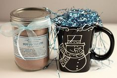 Double Chocolate Hot Cocoa Mix with gift tags. An easy mix that makes instant rich hot cocoa. Always a popular gift jar.   from The Yummy Life