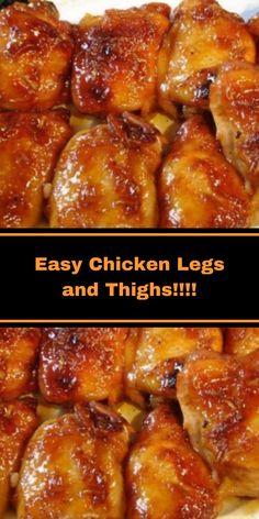 Roast Chicken Legs Recipe, Chicken Legs And Thighs Recipe, Oven Roasted Chicken Legs, Sweet Hawaiian Crockpot Chicken Recipe, Crockpot Chicken Thighs, Best Chicken Recipes, Hawaiian Chicken, Chicken Ideas, Bbq Chicken