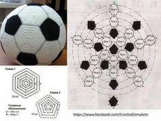Horgolt mintagyűjtemény: Horgolt focilabda