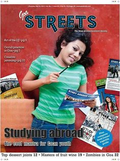 Abroad studies..cover photo for goa streets..