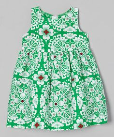 Little ladies will look darling in this sweetly patterned frock. Girls will be ready for any occasion thanks to a simple cut and comfy cotton fabric.
