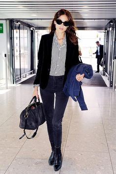 Alexa Chung's perfect airport look