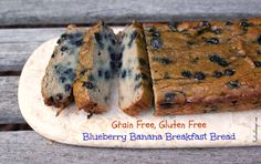Grain Free, Gluten Free Blueberry Banana Breakfast Bread Recipe on Yummly. Blueberry Bars, Gluten Free Blueberry, Gluten Free Banana, Breakfast Bread Recipes, Healthy Desserts, Healthy Breakfasts, Healthy Foods, Healthy Eating, Healthy Recipes