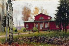 Ilya Galkin (1860 - 1915) - After the rain in the old Park
