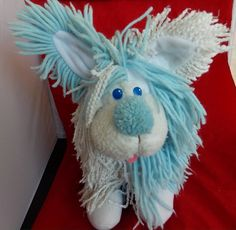 Disney Fluppy Dog Vintage Stuffed Animal Blue by OnceAgainTreasure