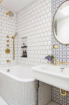 bathroom remodel ideas patterned bathroom tile