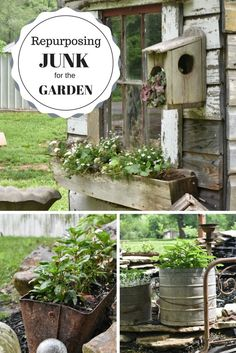 In this week's guest blog, Sarah Blankenship of the @flat_creek shows us how to reinvent junk for our garden space!