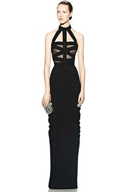 Alexander McQueen- Love the top, would have preferred the bottom to fall straight rather than drape.