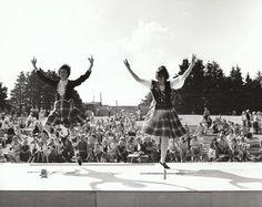 Sword Dance, Gaelic Mod, St. Ann's, J.L. MacKenzie at the judges' table?; Nova Scotia Archives - Nova Scotia Information Service - Archives