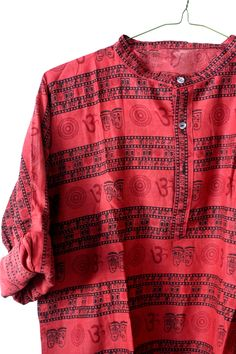 Red Om Cotton shirt