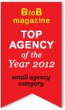 scroll html5 B2B Magazine Top Agency of the Year 2012. Small Agency Category