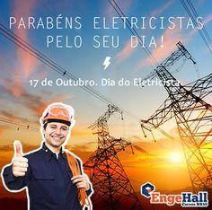 A Engehall agradece a todos os eletricistas pelo seu importantíssimo trabalho.  #diadoeletricista #engehallcursonr10