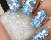 First Snow-Holiday/Christmas/Winter Snowflake Glitter Indie Iridescent Nail Polish by Noodles Nail Polish