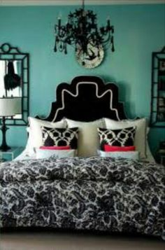 I would never put that color on my wall, but I love the mix of colors with grey walls
