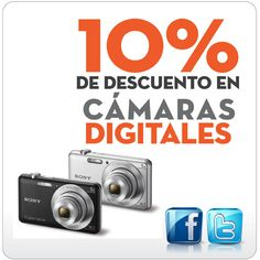 ¿En busca de una nueva cámara digital? Aprovecha el 10% de descuento en toda la categoría de cámaras. (Oferta valida hasta el 20 de octubre en compras realizadas a través de www.multimax.net)