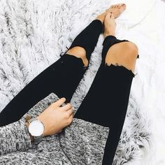 Ripped black jeans