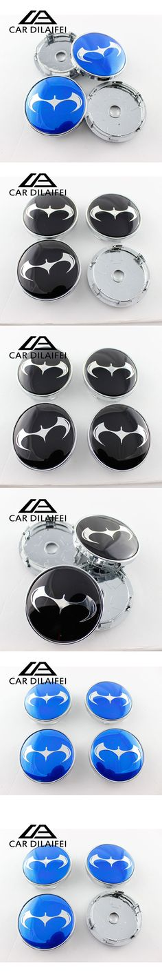 4pcs 60mm Batman Car emblem Wheel Center Hub Cap Rim Badge cover styling Black