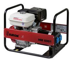 EUROM Benzine aggregaat HM6001 met Honda motor (230V)