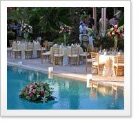 Pool Wedding Reception at Southernmost House | south Florida wedding