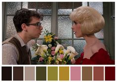 Visually Satisfying Project Shares the Color Palettes of Iconic Film Scenes artFido Movie Color Palette, Colour Pallette, Color Combos, Color Schemes, Little Shop Of Horrors Costume, Cinema Colours, Color In Film, The Royal Tenenbaums, Grand Budapest