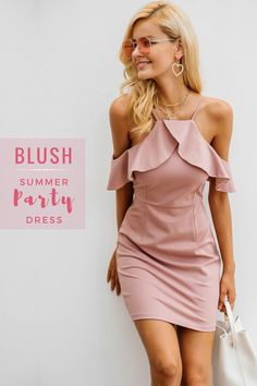 Summer parties? This blush summer party dress will give you confidence as you attend every party in your town!  #summer #partydress #expressionation