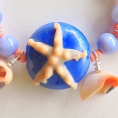 Gift for Mom or Grandma Necklace Magnetic Clasp Starfish Beach Matching Earrings & Stretch Bracelet Available