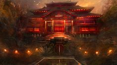 Image result for chinese temple concept art