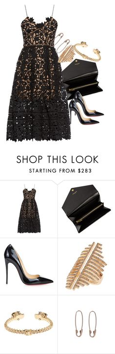 """Untitled #2201"" by erinforde ❤ liked on Polyvore featuring self-portrait and Christian Louboutin"