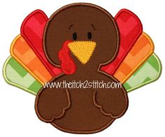 Embroidery Patterns-Instant Download-PES Thanksgiving Turkey Embroidery Applique Design-Turkey EmbroiderY-Bird Embroidery-Mascot Applique
