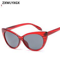 0474e91688 2018 neue Retro Sexy Katzenaugen-sonnenbrille Frauen Markendesigner Vintage  Cateyes sonnenbrille Mode Weibliche Gläser UV400 Schattierungen