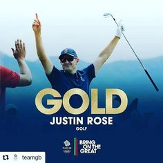 #Repost @teamgb with @repostapp ・・・ #Gold! @justinprose99 iceman, legend, #HistoryMaker! #Rio2016 #GolfOlympic Champion! Just ecstatic! #BringOnTheGreat #teamgb #olympicgames