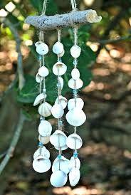 Driftwood Seashell Windchime Natural Mobile Nautical by TheSandbar Seashell Wind Chimes, Diy Wind Chimes, Shell Beach, Seashell Crafts, Beach Crafts, Diy Arts And Crafts, Diy Crafts To Sell, Rama Seca, Suncatcher