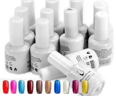 10 sexy Colour UV Soak Off Gel Plus Top & Base Coat from MissLIpLash Soak Off Gel, Base Coat, Nail Tech, Gel Polish, Colour, Nails, Sexy, Top, Color